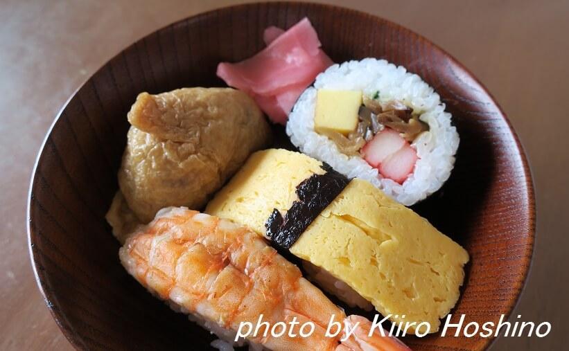 お弁当、2016-6-30、朝食お寿司