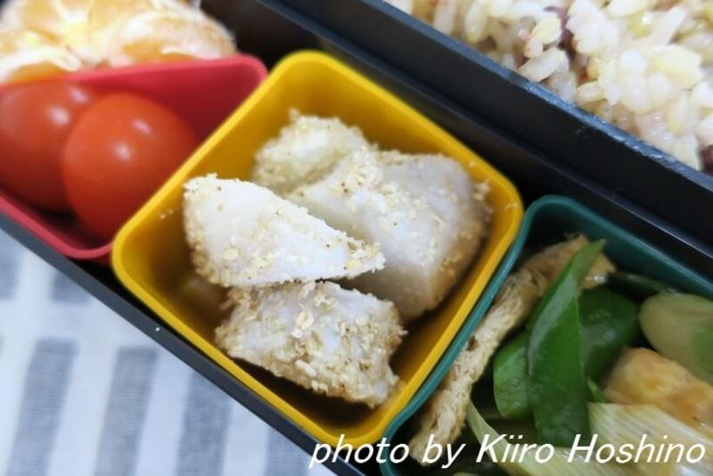 お弁当、2016-11-10、里芋のごま和え