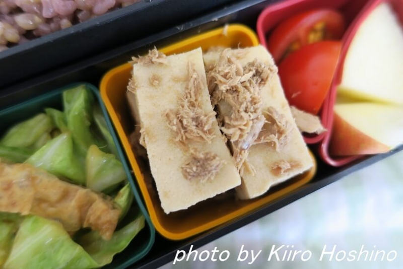 お弁当、2016-12-7、高野豆腐の含め煮