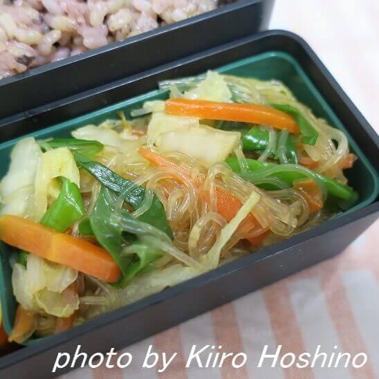 白菜と春雨の炒め物