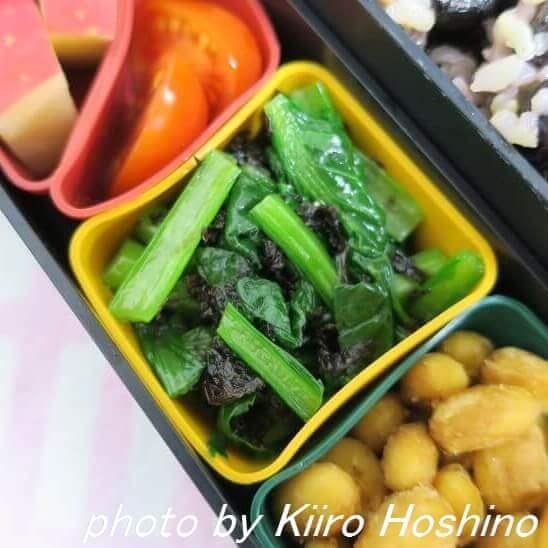 小松菜の海苔和えwithごま油