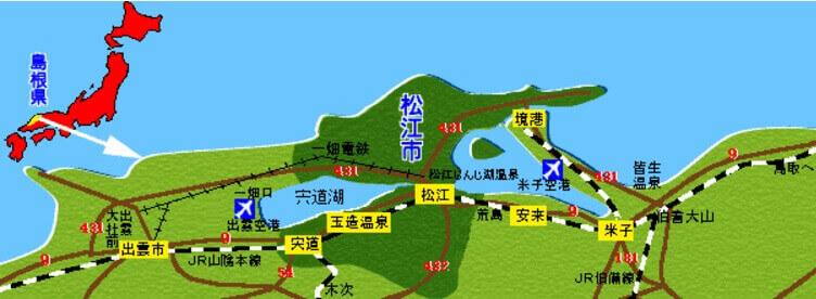 ふるさと納税・島根県松江市、地図