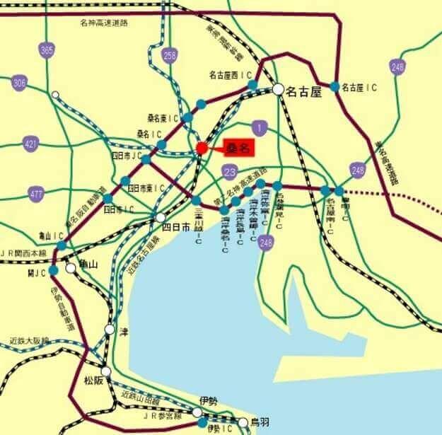 ふるさと納税・桑名市、地図